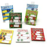 Christmas Sticker Pack Promotion Gift Deco Sticker note Die Cut Vinyl Sticker book