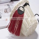 2015 New products autumn and winter korea custom leather tassel long texture sweater necklace