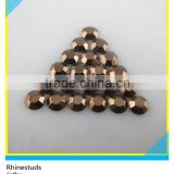 Hotfix Transfer Coffee Color Loose Aluminum Rhinestuds Flatback Metal Octagon Studs For Nail Art