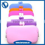 Candy Color Waterproof Rectangle Shape Silicone Rubber Coin Holder Purses for Makeup silicone Bag