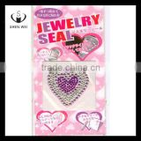 heart shape home button mobile phone jewelry stickers