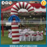 Activity decoraiton inflatable candy cane, inflatable lighted candy cane for christmas decoration