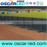 Football/soccer/baseball stadium advertising project P8 outdoor smd full color bracing standing led display