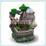 Squirrel Led Light spinnin ball meditation Fengshui water fountain