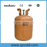 High quality 11.3kg/25lbs disposable cylinder packing refrigerant gas r407c for air condition