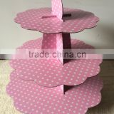 Light Pink Cupcake Stand for Baby Shower,Girls Birthday Party or Everyday Entertaining