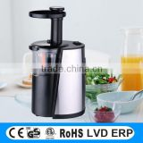 hot selling 150W professional stainless steel slow speed auger juicer with 100% copper motor