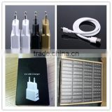 OEM black white gold logo printing paper box with micro cable 5v 1.5a eu electronic cigarette charger price