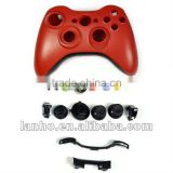 Red Full Housing Shell Case for XBOX 360 Wireless Controller Joypad