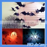Hogift Removable purple 3D acrylic bat PVC wall sticker for home decor