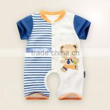 wholesale 100% cotton new fashion bright color short sleeve baby rompers