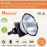 high power super bright 100lm/w cool white anti-dazzle high bay 100w led light with IP65 rating