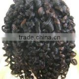 Hot style! Indian remy spring curl good quality full lace wig for ladies