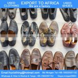 factory directly supply high quality clean men's second hand shoes leather used shoes export for Africa