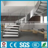 Moden design high quality residential steel beam curved stairs design