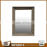 Unfinished Natural Wood Mirror Frame Deep Concave Rustic Wooden Frame Mirror