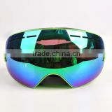 Detachable Lens Skate Ski Goggles Wide Angle Double Lens Anti-fog Big Spherical Snowmobile Snowboarding Goggles