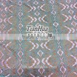 latest jacquard lace fabric raschel popular lace fabric for fashion dress