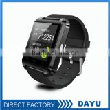 Approved High Quality Bluetooth Watch Activity Tracker Vibrating Alarm Bluetooth Watch U8