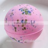 Mendior Pink Cherry spa bubble bath fizzy/bombs dry flower essence oil bath salt bubble OEM 30 g to 200 g