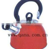 hot sales red stainless steel water kettle best whistling kettle with bakelite handles