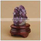 wholesale chakra stone set purple Amethyst Crystal geode as Gift and Decoration in bulk Wholesale