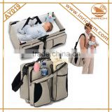 Hot Baby Product 300D Baby Bed Bag 3in1 Portable Baby Changing Station Ourdoor Foldable Crib For Baby                                                                         Quality Choice