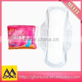 Cotton surface absorbent ladies sanitary pads OEM allowed