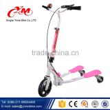 Foldable maxi foot pedal kick scooter / 3 wheel kick scooter with hand brake / cheap kick scooter for kids