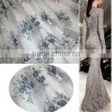 Hand made bridal lace evening dress wedding dress lace fabrics beaded party dress lace fabric