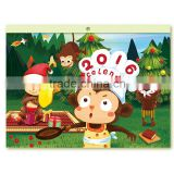 2016 happy monkey calendar custom full color print table calendar, table calendar wholesale