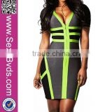 High fashion wholesale cheap bandage dress sexy bodycon knee length for ladies evening Dress