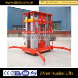 High performance 12m portable type hydraulic telescopic aluminum alloy mobile aerial work platform