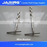 Stainless Grade 304 316 Wire Anchor,Restraining Anchor,Stainless Steel Rod for Wall Mounting M8 M10