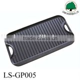 hot sell cast iron vegetable double bbq griddle grill pan roasting pan
