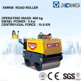 XCMG mini vibratory road roller XMR08 mini road roller compactor (Operating mass:800kg, Diesel Power:5kw)