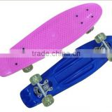 New design plastic four wheel skateboard