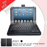 9 and 10 inch tablet pc leather universal bluetooth keyboard case cover factory price tablet case with keyboard
