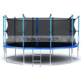 15ft cheap popular large folding home gym fitness body building equipment trampoline with safety net for sale SX-FT(E)15