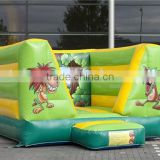 Factory Price Tubo mini jungle open bounce house with no roof