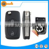 2 button remote key blank case shell with 1616 battery clamp logo and HA66 blade for Audi a4 a4l A6 A6L Q7 Q5 A8 A8L