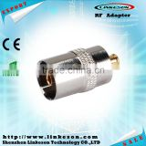 RF adapter MCX male to TV female coaxial connector