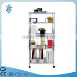 5 tier metal steel book shelf /movable book shelf /metal display book rack book shelf (30*60*150cm)
