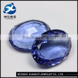 China new products oval shape pagoda synthetic gem stone crystal glass stone shoes ornament