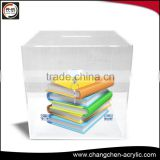 simple acrylic box for display shoes/book with various colors made in China OEM factory