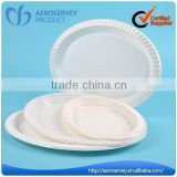 Environment friendly white airline product cheap disposable dish set