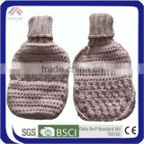 knitted warm water bottle covers with button
