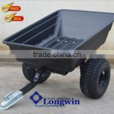 Poly trailer, ATV farm trailer, metal garden wagon