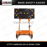 12V or 24V Solar Powered Flashing LED Light Traffic Road Arrow Sign Traffic Warning Arrow Board Trailer