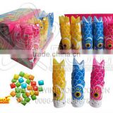 Funny Fish Bottle shape Fruit Flavor Bubble Gum